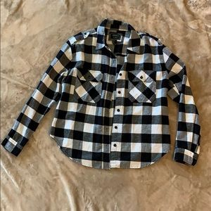 Forever 21 black and white flannel size S